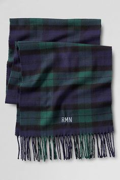 Men's CashTouch Plaid Scarf from Lands' End