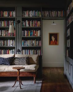 Jessica Helgerson Interior Design renovated this gorgeous old house in Iowa City, Iowa. U Shaped Sofa, Home Library Design, Big Sofas, Couches, Built In Wardrobe, Classic Furniture, Mid Century House, Iowa, New Homes