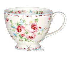 GreenGate Teacup - Simone White - Green Gate Tea Cups Stoneware