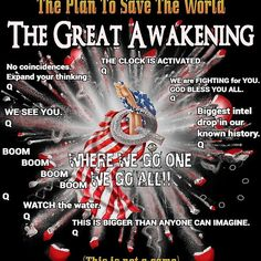 Q Anon Fire Q The Great Awakening Where We Go One We Go All USA T-Shirt Black