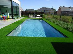 Kunstgras in combinatie met een zwembad! Steeds een goed idee! #ForGrass #Kunstgras www.forgrass-kunstgras.be