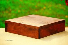Celebrations Country Rustic Wooden Square Cake by PennRustics