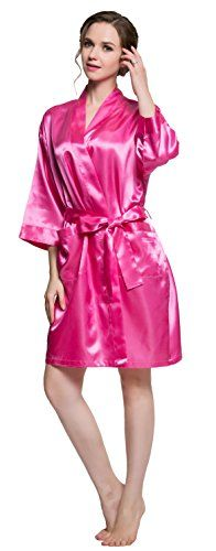 Rose Wedding Robe with Bride /Bridesmaid Maid of Honor at the back New style Wedding robe of 2016. There have 5 colors,M and XL Size It is a good product for Wedding. Price:$14.99 & FREE Shipping