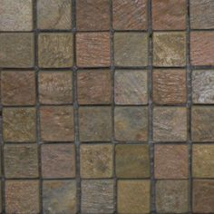 Copper Natural Mosaic Square #Backsplash Tile - Perfect for a #Craftsman #Kitchen Design