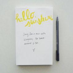 Linda & Harriett: Hello, Sunshine Notepad