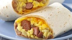 These Vienna Sausage Burritos are great for when you're in the mood for breakfast for dinner—ready in just 25 minutes! (Breakfast For Dinner) Sausage Breakfast, Breakfast For Dinner, Breakfast Recipes, Breakfast Burritos, Camping Breakfast, Breakfast Sandwiches, Vegetarian Breakfast, Christmas Breakfast, Breakfast Ideas