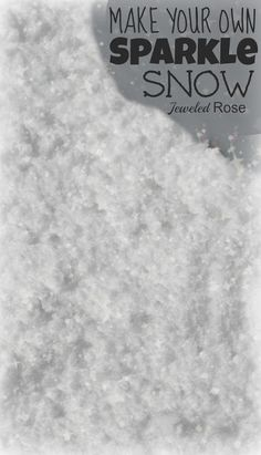 Make your own SPARKLE snow for glorious Winter play.  This stuff is amazing!  It is the softest homemade snow we have tried and it is COLD and super sparkly.