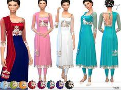 The Sims 4 Mody: Suknia Anarkali - 1 od Ekinege
