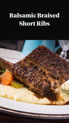 Braised Short Ribs, Beef Short Ribs, Braised Beef, Roast Beef, Steak Dinner Recipes, Rib Recipes, Cooking Recipes, Beef Ribs Recipe, Prime Rib Recipe