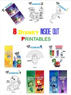 Inside Out Available Today Coloring Quiz Family Pinterest