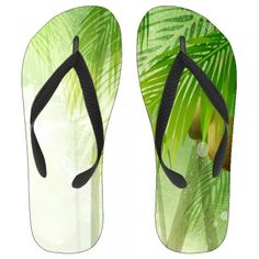 Lush Coconut Tree Kids Flip-Flops