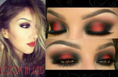 Maquillaje con ROJO ( Look in RED)