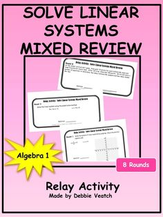 Solve Linear Equations in Context Relay Activity