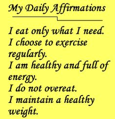 Manifesting Affirmations | ... affirmations for weight loss. So she thought she'd give these