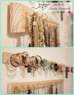 My Gues Post for http://www.lilluna.com DIY Built In Jewelry Organizer Tutorial - because everybody could use a little organization #southernrevivals #lilluna