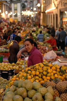 Funchal night market, Madeira Island - Portugal