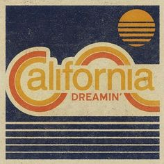 california dreaming' design by Aaron von Freter for Rockswell. - california dreaming' design by Aaron von Freter for Rockswell. Design Retro, Logo Design, Vintage Graphic Design, Graphic Design Inspiration, Vintage Designs, Web Design, Custom Design, Surf Design, Colour Inspiration