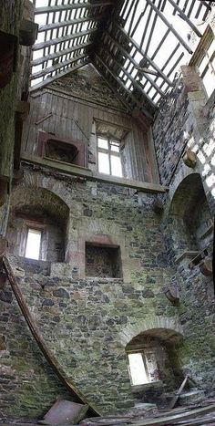 Inside a 3 story abandoned building..