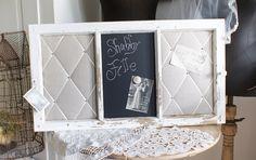 Shabby Pinnwand Magnettafel altes Fenster *Trude*