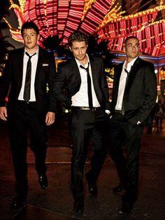 MEN IN SUITS = <3   glee   Cory Moneith   Mark Salling   Matthew Morrison