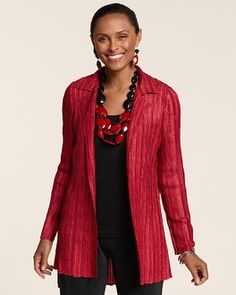 Chico's Travelers Collection Crushed Emiliana Jacket #chicos What a great look for a trip to Japan.