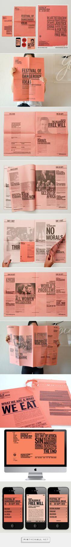 Festival of Dangerous Ideas | Designer: Leah Procko | Via: Branding Served
