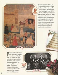 American Girl Magazine - January 1993/February 1993 Issue - Page 21 (Part 2 of Looking Back - Wedding Album)