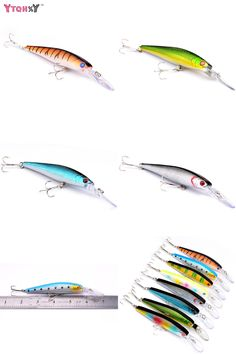 [Visit to Buy] 1Pcs 12.5cm 14g  Minnow Fishing lure Pesca Artificial wobbler  Bait  4# hook Big mouth Fishing wobblers WQ8051 #Advertisement
