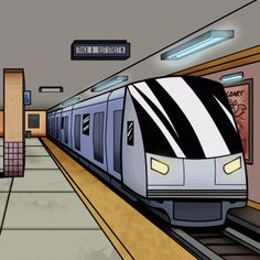 how to draw a subway, subway train