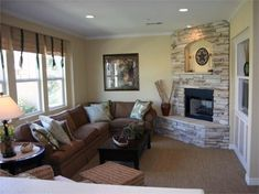 Small Living Room with Fireplace by michael