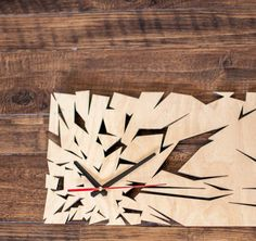 "Incredible Wooden Wall Сlock ""Shards"""