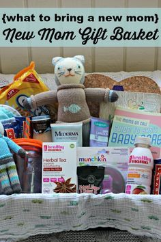 {what to bring a new mom} New Mom Gift Basket