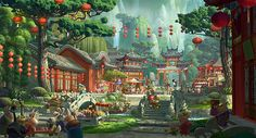 """""""The Valley of Peace"""" – Kung Fu Panda Concept Art -  95 piece limited edition giclée on canvas - http://www.acmearchivesdirect.com/product/DWKFP01/The-Valley-of-Peace.html?cid= 125 piece limited edition giclée on paper - http://www.acmearchivesdirect.com/product/DWKFP01P/The-Valley-of-Peace.html?cid="""