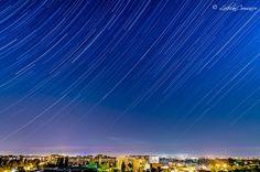 Star Trails de Bucuresti! Star Trails, Stars, Night, Sterne, Star