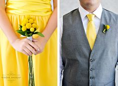 grey and yellow tux