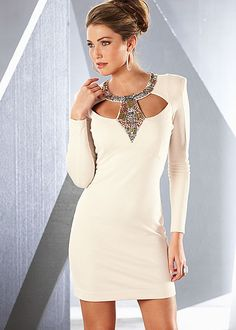 Cut out sequin neckline dress in the VENUS Line of Dresses for Women