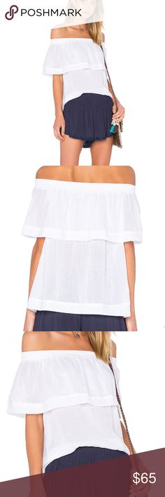 FAITHFULL the brand off the shoulder top Faithfull The Brand 'Tilly Off The Shoulder Top Woven Plain White' ❤️check out my Instagram @brieharding , Everything in my closet has been curated with love and I rock it myself! Faithfull the Brand Tops