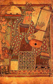 "REY DAVID CON LIRA ""Alabadle con arpa y lira"" (Salmos 150:3). Renaissance Music, Medieval Music, Medieval Art, Rey David, Ancient Music, High Middle Ages, Music Illustration, King David, Call Art"