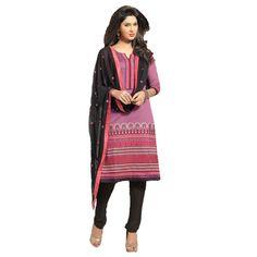 Pink Banaras #Churidar Kameez With Dupatta #Salwarkameez