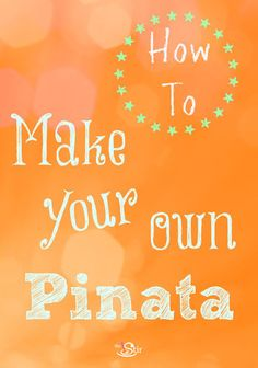 So easy and fun! Make your own pinata! http://thestir.cafemom.com/toddler/104230/make_your_own_pinata_kids?utm_medium=sm_source=pinterest_content=thestir