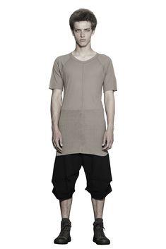 Shop Sustainable Luxury Avant-garde Fashion Designer Barbara I Gongini Men's Black Short Sleeve Jersey Top at Erebus