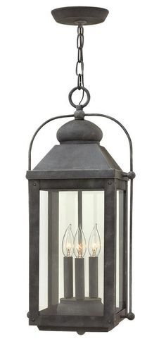 Hinkley Lighting 1852 3 Light Outdoor Multi Light Pendant From the Anchorage Col Aged Zinc Outdoor Lighting Pendants