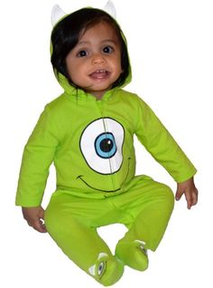 Baby Monsters, Inc. Mike One-Piece Pajamas - Party City
