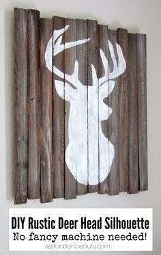 DIY Rustic Deer Head Silhouette {no fancy machine needed!}