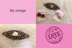 New vintage ćlips and matching earrings .$3 each ćlips $4.50    Gorguess for the lady that loves to wear accessories in her hair.