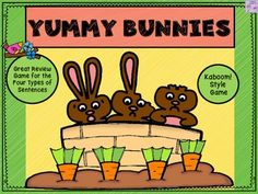 Just posted! Sale! Play this Spring themed game and create some hoppin' good fun while reviewing the four types of sentences. The sentence types reviewed are declarative, interrogative, exclamatory, and imperative. Similar to Kaboom!, this game can be played by the whole class or Types Of Sentences, Sentence Types, Teaching Grammar, Teaching Resources, Classroom Resources, Upper Elementary, Elementary Teacher, Elementary Education, Art Classroom