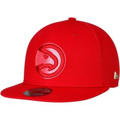 quality design b6fad efa19 Men s Atlanta Hawks New Era Red Essential Black Label Series 59FIFTY Fitted  Hat, Your