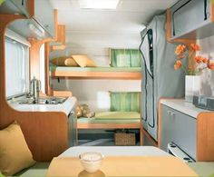 Idea of back double bed at end of van