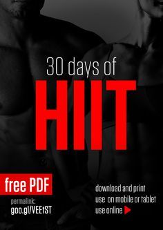 30 Day of HIIT: this site has lots of workout programs and suggested meal plans in a simple to follow format