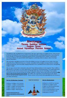 Riwotsegya Annual 3 Day Vajrakilaya Phurdok Retreat Feb 12,13,,14 2018